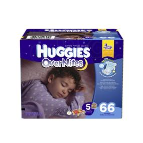 Try our most absorbent diaper, Huggies Overnites Diapers to help keep baby comfortable and dry