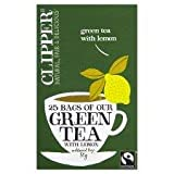 Clipper Green Tea With Lemon 25 Tea Bags 50G