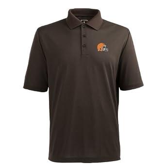 NFL Mens Cleveland Browns Pique Xtra Lite Desert Dry Polo Shirt by Antigua