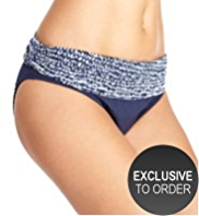 M&S Collection Squiggle Print Hipster Bikini Bottoms