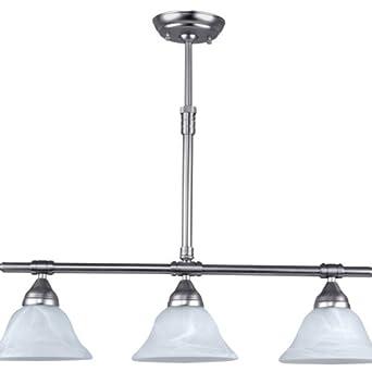 Athena 3 light kitchen island pendant ceiling pendant for Kitchen spotlights amazon