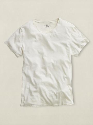 RRL ダブルアールエル Tシャツ Crewneck T-Shirt L FadedBlackCanvas[並行輸入品]