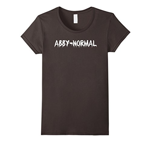 [Women's Abby-Normal Abnormal Pun Funny Halloween Costume T-Shirt Tee Small Asphalt] (Play Words Costume Ideas)
