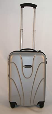 "Hard Shell 20"" Wheeled Suitcase Trolley in Silver"