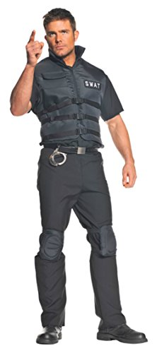 Underwraps Mens Swat Police Officer Theme Party Fancy Dress Costume