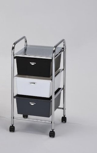 3 Drawer Portable Storage Bin Cart juki mechanical feeder cart storage trolley cart