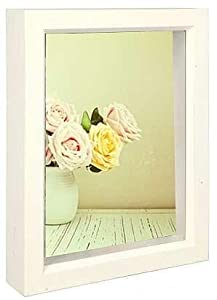 Bright-White stain 5x7 shadow box for your print or collectibles by Dennis Daniels - 5x7