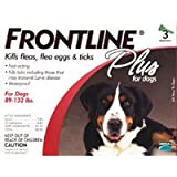 Frontline Plus For Dogs 89-132 lbs. 3 ea