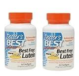 【バリュー2本セット】[海外直送品] Doctor's Bestベスト フリールテイン (FloraGLO) 20mg 60粒 Best Free Lut...