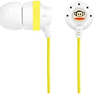 Skullcandy INK'd Paul Frank Earbuds S2INCZ-053 (White/Yellow) (Discontinued by Manufacturer)