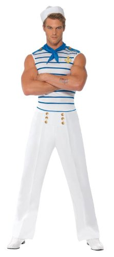 Smiffy's Men's Male Sailor Costume