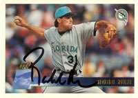 Robb Nen Florida Marlins 1996 Topps Autographed Hand Signed Trading Card. by Hall+of+Fame+Memorabilia
