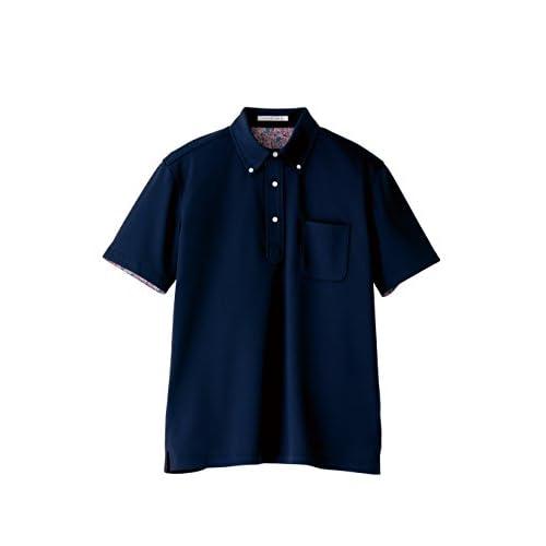 (フェイスミックス)FACEMIX 吸水速乾メンズポロシャツ(花柄) FB5025M 8 ネイビー L