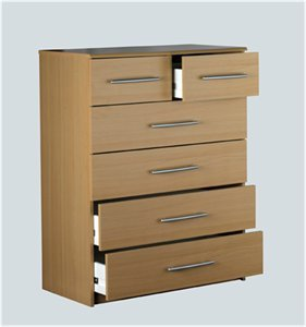 Washington 4 2 Chest Of Drawers Beech Kitchen Home
