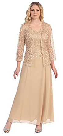 Beautiful Bride Lace Dresses With Jacket Formal Pant Suits Women Evening Dresses