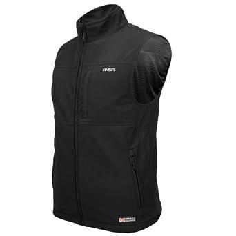 ANSAI Men's Mobile Warming Softshell Vest (Black, Medium)