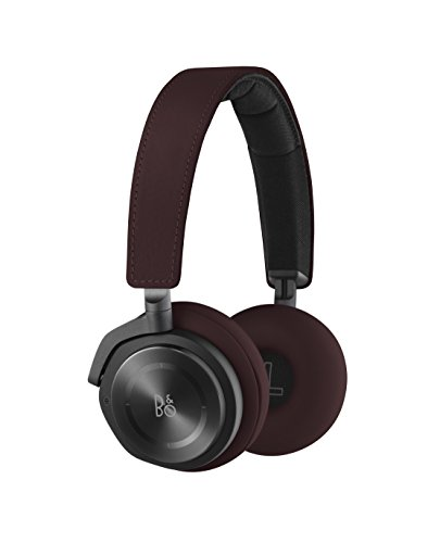 B&O Play by Bang & Olufsen Beoplay H8 Wireless On-Ear Headphone with Active Noise Cancelling, Deep Red