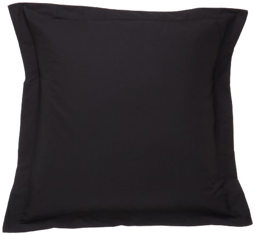 Find Bargain Fresh Ideas Tailored Poplin Pillow Sham Euro, Black