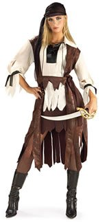 CARRIBEAN PIRATE BABE ADULT COSTUME