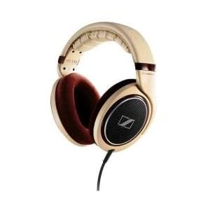 $180 Sennheiser HD 598 Audiophile Headphones with High-Gloss Burl Wood Accents