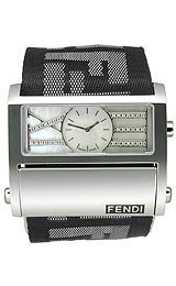 Fendi Zip Code Black-White Strap Diamond Dial Unisex Watch #F115141BD