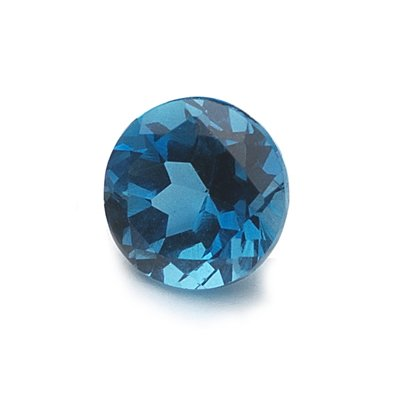 1.39 Cts of AAA 7 mm Round Loose London Blue