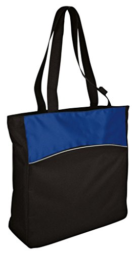 AimTrend Two-Tone Zippered Colorblock Tote Bag
