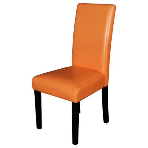 Orange Kitchen Table And Chairs: Monsoon Pacific Villa Faux Leather Dining Chairs, Sunrise