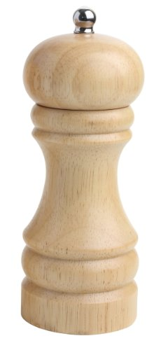 6 inch/15 cm OXO Good Grips Natural Wood Lily Salt Mill Brown