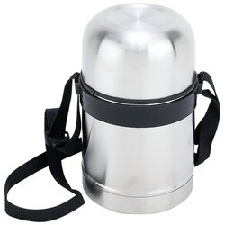 Stainless Steel 17 oz Vacuum Soup Container with Carrying Strap