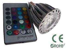 Glb Mr16 6 Watt Rgb Led Bulb Spotlight With Remote Control, 3X2Led Multi Color 16 Color Choices