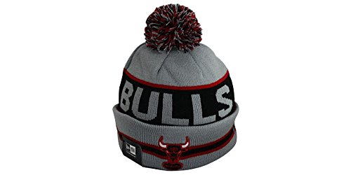 NBA New Era Knit Beanie with Pom Chicago Bulls