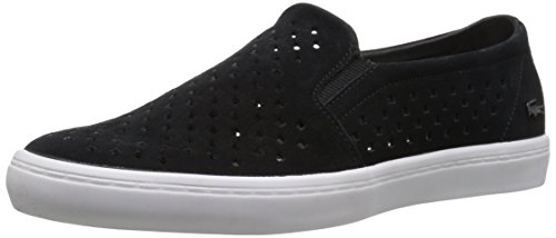 Lacoste Women's Gazon Slip on 216 1 Flat, Black/White, 7 M US