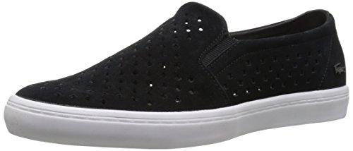 Lacoste Women's Gazon Slip on 216 1 Flat, Black/White, 7 M US
