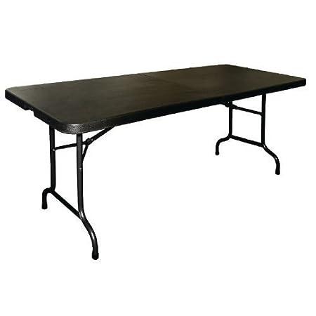 Centro de mesa multiusos plegable 182,88 cm negro