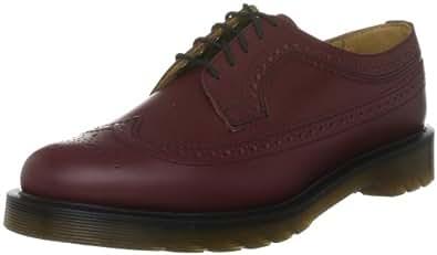 Dr Martens 3989 Smooth, Chaussures de ville mixte adulte Rouge cerise 35.5