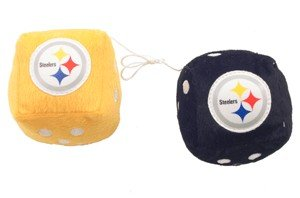 Steelers Fuzzy Dice from PrivateLabel