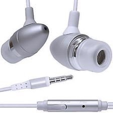 Guilty Gadgets ? - Silver Earphones Headphones Hands Free With Mic For Samsung Galaxy S I9000, Plus I9001, i9100 S2, i9300 S3, LTE, S3 Mini, i9500 S4, Tab, 10.1, 2 10.1, 2 7.0, 7 Plus, 7.7, 8 9, Galaxy Note, 10.1, 2, 8.0, 8000, Nexus Asus 7, 10, 4, 5 LG Phone Tablet, Xoom Motorola