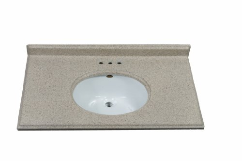 Imperial FOGUW3722CAPSS Ogee Bathroom Vanity Top with Undermount White Sink, Cappuccino Matte Finish, 37-Inch Wide by 22-Inch Deep