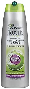 Garnier Fructis Haircare Anti-Dandruff Shampoo, Intense Cleanse 13 fl oz (384 ml)