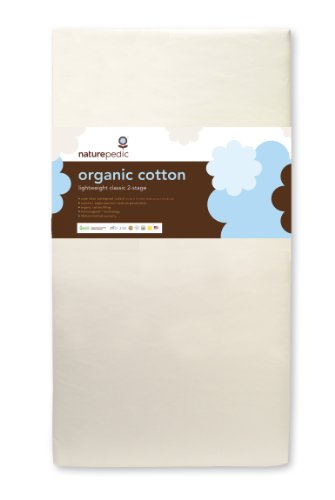 Naturepedic No Compromise Organic Cotton Classic Lightweight Dual Firmness Crib Mattress