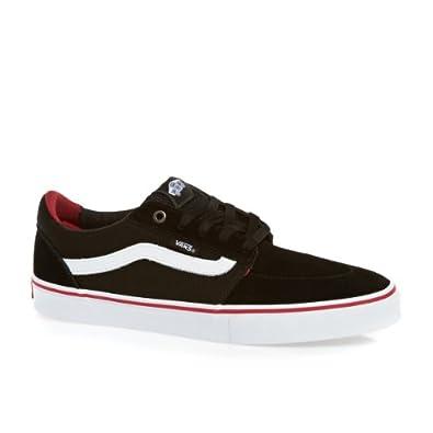 Vans Pro Skate Lindero Shoes - (Mesh) Black/White/Scarlet