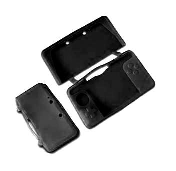 Fosmon® Premium Quality Silicone Case for Nintendo 3DS (Black)