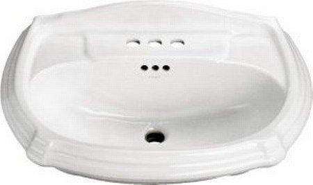 Buy KOHLER Portrait Pedestal Lavatory Basin, White #K-2222-8-0 (Kohler Sinks, Plumbing, Sinks, Bathroom, Pedestal)