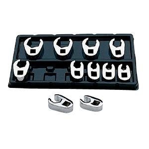 SK 4511 SuperKrome 11 Piece 3/8-Inch Drive 9-Millimeter to 19-Millimeter Flare Nut Crowfoot Wrench Set