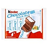 Kinder Chocolate Snack Bars X 6 126G