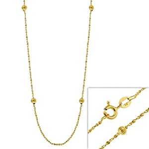"Gold Filled Italian Twisted Serpentine Chain Necklace w/ Ribbed Beads 16"" 18"" 20"" 24"""
