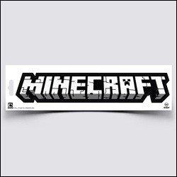 Minecraft Logo Stickers Each