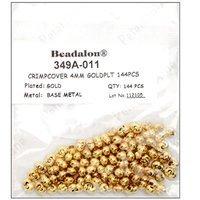 Beadalon Crimp Covers 4mm 144pc Gold