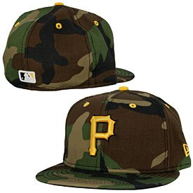 Pittsburgh Pirates Camo 5950 Fitted Cap by The Pittsburgh Fan